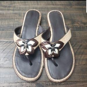 BRIGHTON Flower Sandals | 8M
